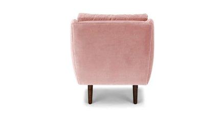 Matrix Modern Contemporary Velvet Chair Blush Pink