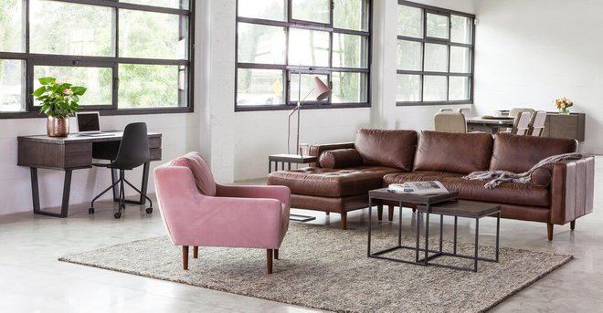 Matrix Modern Contemporary Velvet Chair Blush Pink