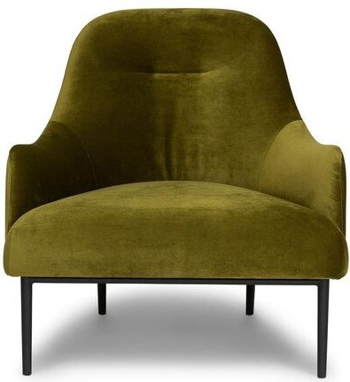 Article Embrace Lounge Chair Velvet Moss Green
