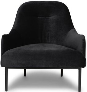 Article Embrace Lounge Chair Velvet Obsidian Black