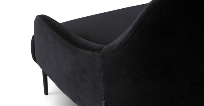 Embrace Lounge Chair Velvet Obsidian Black