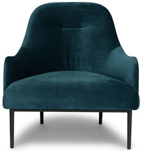 Article Embrace Lounge Chair Velvet Mercury Blue