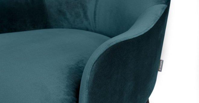 Embrace Lounge Chair Velvet Mercury Blue