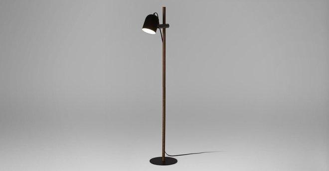 Article Mast Floor Lamp Walnut