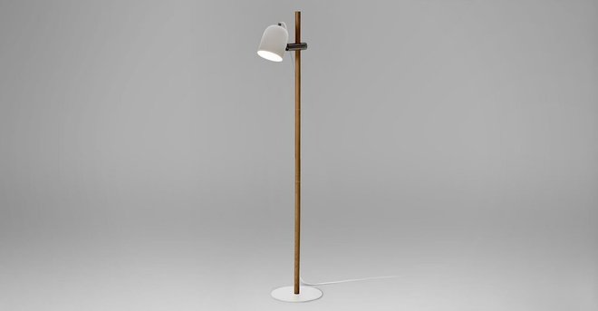 Article Mast Floor Lamp Oak