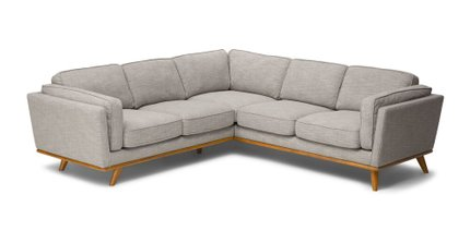 Timber Rain Corner Sectional Cloud Gray