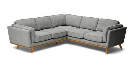 Timber Corner Sectional Pebble Gray