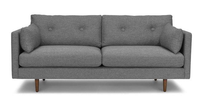 Anton Mid-Century Modern Apartment Button Tufted Sofa Gray