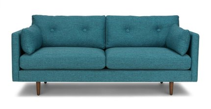 "Article Anton Mid-Century Modern 74"" Sofa Arizona Turquoise"