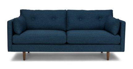 "Article Anton Mid-Century Modern 74"" Sofa Twilight Blue"