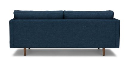 Anton Mid-Century Modern Apartment Button Tufted Sofa Blue