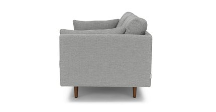 Anton Mid-Century Modern Apartment  Button Tufted Sofa Winter Gray