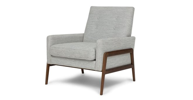Nord Mid Century Modern Armchair Galaxy Gray In Ny Chairs Casaone