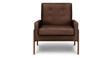 Nord Leather Chair Charme Chocolat