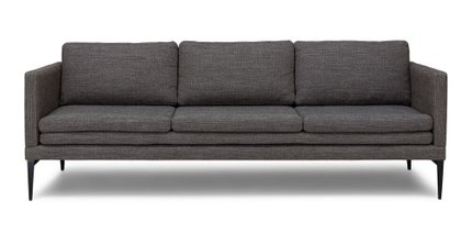 Triplo Contemporary Sofa Meteorite Gray