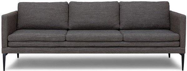 Triplo Contemporary Sofa Meteorite Gray