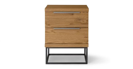 Taiga 2 Drawer Nightstand Oak