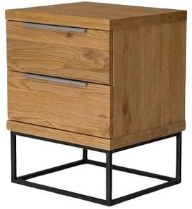 Article Taiga 2 Drawer Nightstand Oak