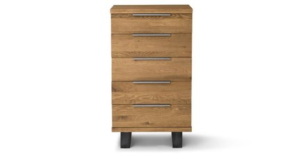 Taiga 5 Drawer Dresser Oak