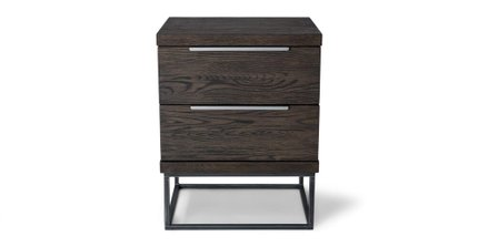 Taiga 2 Drawer Night Stand Smoke