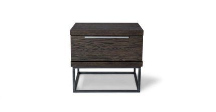 Taiga 1 Drawer Nightstand Smoke
