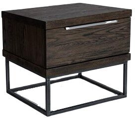 Article Taiga 1 Drawer Nightstand Smoke