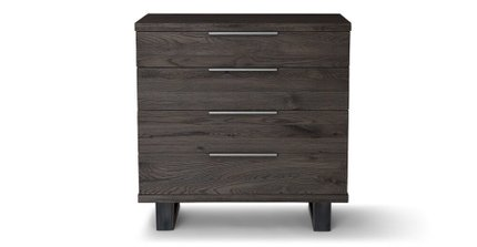 Article Taiga 4 Drawer Dresser Smoke