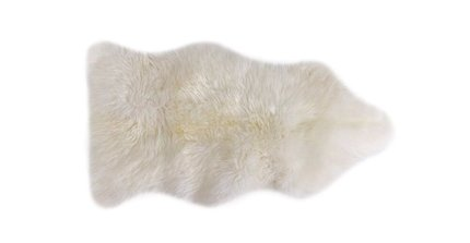 Lanna Sheepwool Throw Rug Ivory