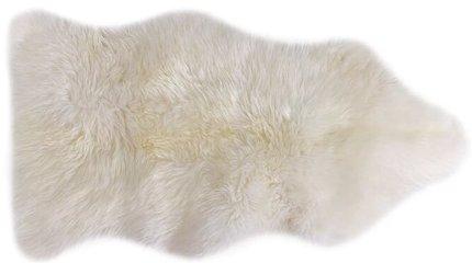Article Lanna Sheepwool Throw Rug Ivory
