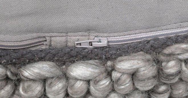 """Hira 30"""" Ottoman Metal Gray"""
