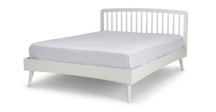 Culla Spindle King Bed White