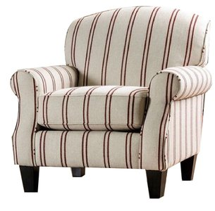 Fillmore Striped Chair Ivory And Brown