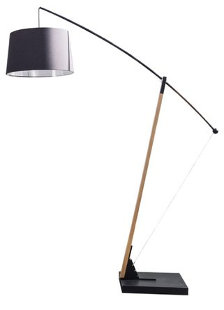 Archer Floor Lamp Matt Black