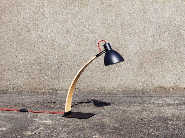Laito Wood Table Lamp Matt Black