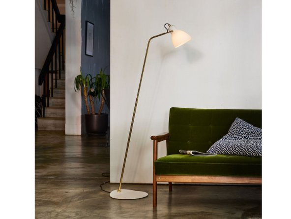 Laito Opal Floor Lamp Opal And Brass