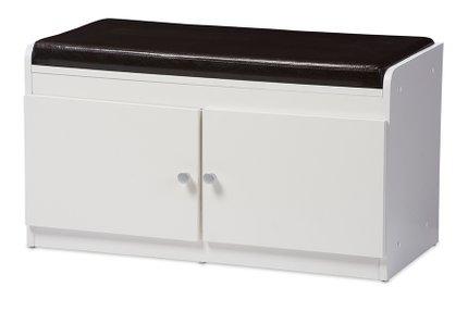 Baxton Studio Margaret 2-Door Shoe Cabinet White