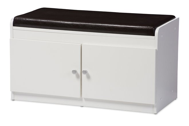Margaret 2-Door Shoe Cabinet White
