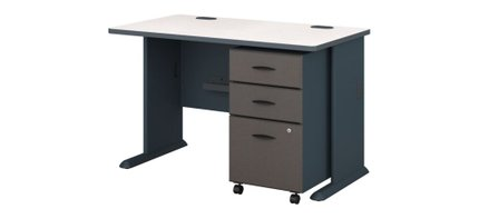 """Series A 48"""" Desk With Cabinet Slate"""