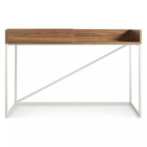 Swish Console Desk Walnut And Matte White
