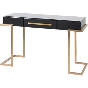 Saavedra Console Table Copper And Black