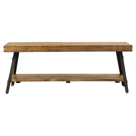Lynn Coffee Table Rustic And Dark Gray