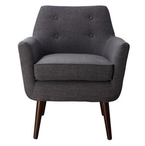 Clyde Linen Chair Gray