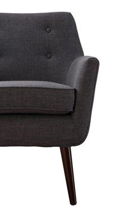 Clyde Linen Chair Gray
