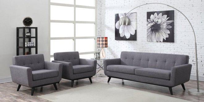 James Linen Chair Gray