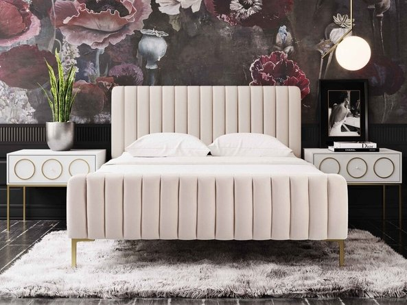 Angela Queen Bed Blush