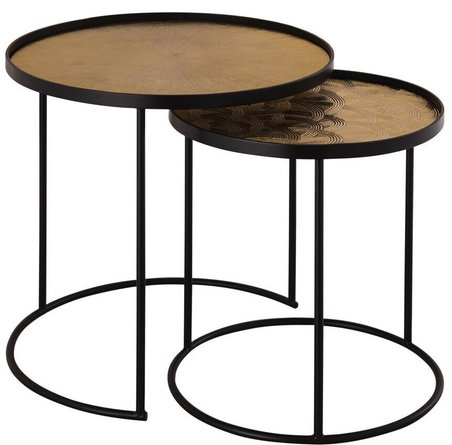 Eve Nesting Side Tables Gold