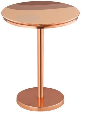 Sunset Handpainted Side Table Copper