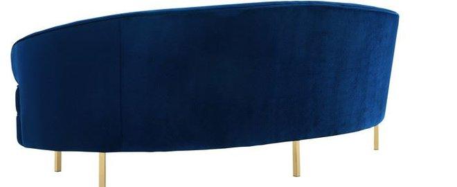 Baila Velvet Sofa Navy