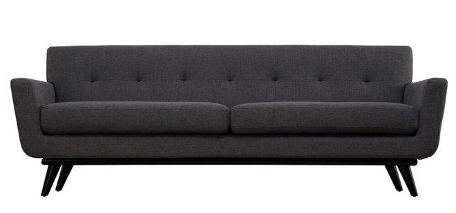 James Linen Sofa Gray