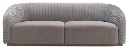 Yara Pleated Sofa Gray